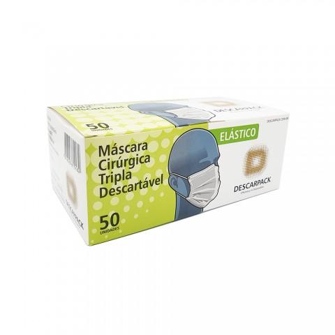 Máscara Cirúrgica Camada Tripla - Descarpack - 50un